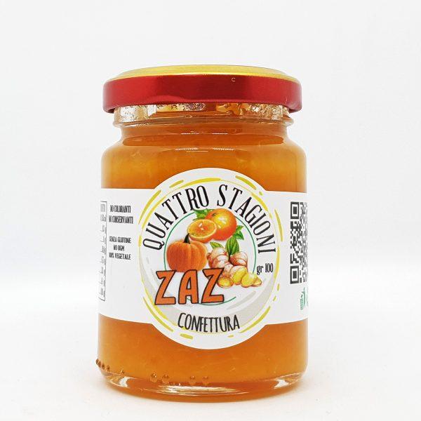 Confettura ZAZ Zucca rossa, Arancia e Zenzero